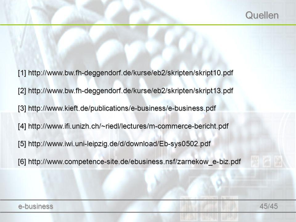 Quellen [1] http://www.bw.fh-deggendorf.de/kurse/eb2/skripten/skript10.pdf. [2] http://www.bw.fh-deggendorf.de/kurse/eb2/skripten/skript13.pdf.